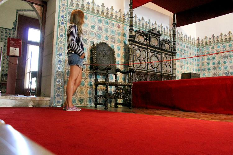 Quarto de Dom Sebastião no Palácio Nacional de Sintra